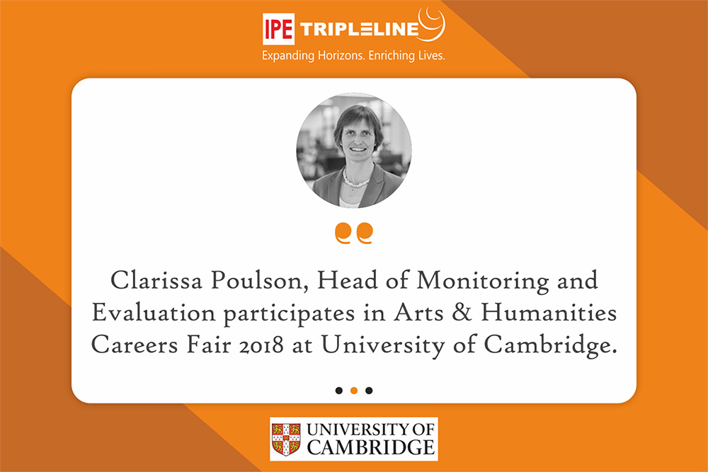 Clarissa Poulson participates in Arts & Humanities Careers Fair 2018 at University of Cambridge