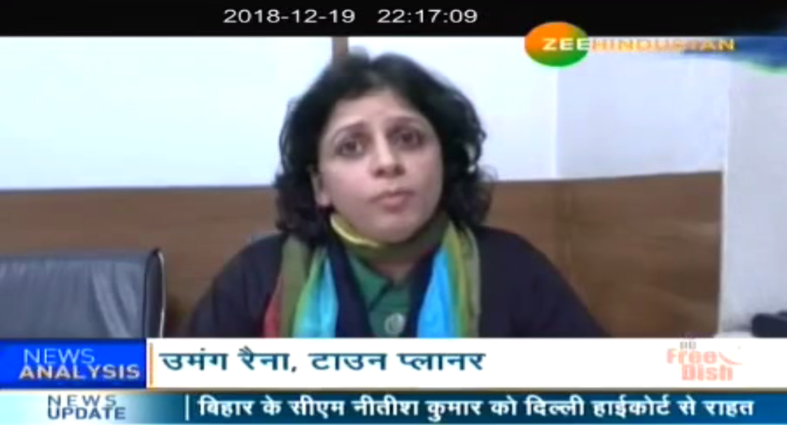"Umang Raina exclusively covered by Zee Hindustan as she highlights her views on ""Is Delhi Quake ready?""."