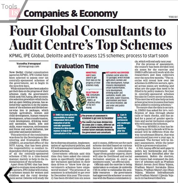 IPE Global finds exclusive mention in Economic Times