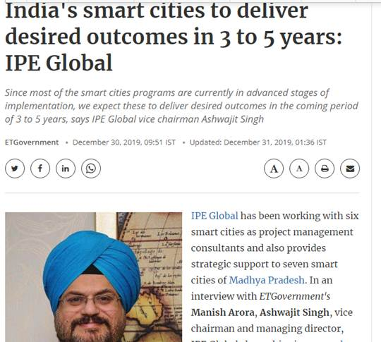 Ashwajit Singh, MD IPE Global gets exclusive coverage in ETGovernment