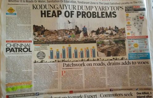 Chennai patrol- Kodungaiyur dump yard tops heap of problems