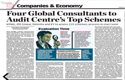IPE Global among four top consultants to audit centre's schemes