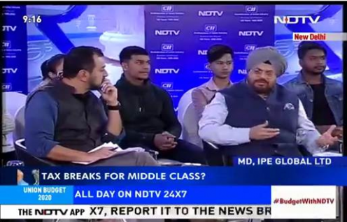 Ashwajit Singh, MD IPE Global featured in NDTV 24*7