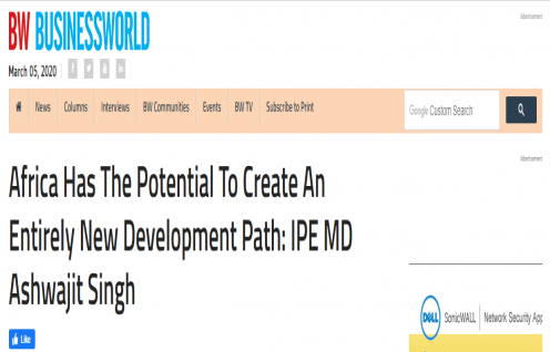 Ashwajit Singh, MD IPE Global gets exclusive coverage in BusinessWorld