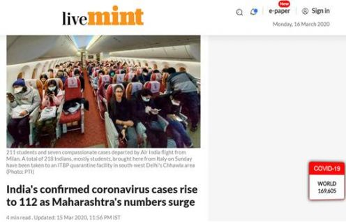 Himanshu Sikka features in The Mint; shares his views on the rising case of COVID-19