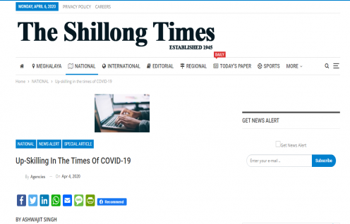 Ashwajit Singh, MD IPE Global gets exclusive coverage in The Shillong Times