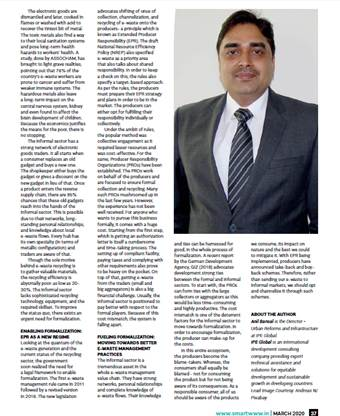 Anil Bansal, Director, Urban Reforms & Infra gets exclusive coverage in Smart Water & Waste World magazine's March issue