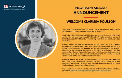 Welcoming new board member of IPE Triple Line