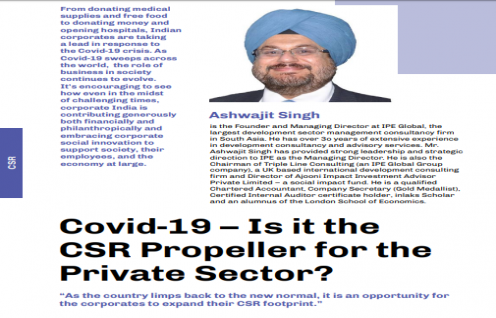 Covid-19 – Is it the CSR Propeller for the Private Sector? : All Things Talent Magazine