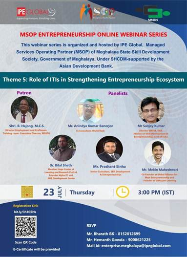 Role of ITIs for Strengthening Entrepreneurship Ecosystem