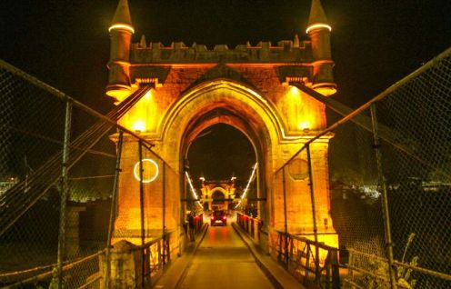 Victoria Bridge in Mandi town, Himachal Pradesh