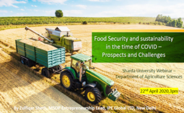Food Security and Sustainability in the time of COVID-19
