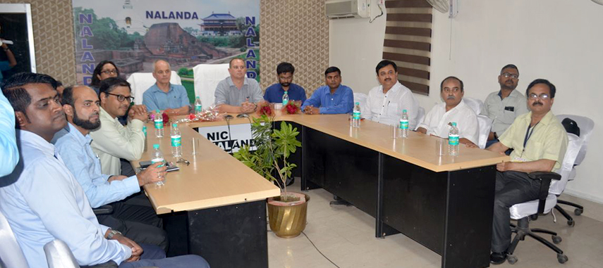 The visiting team with the Government officials and GROW BIHAR team during the presentation on BRPGRA ICT based Implementation and Monitoring system