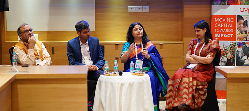 Dr Neeta Rao, Health Specialist USAID India moderates a session on collaborating for universal healthcare